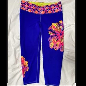 Lilly Pulitzer Luxletic Leggings EUC M Blue Pant